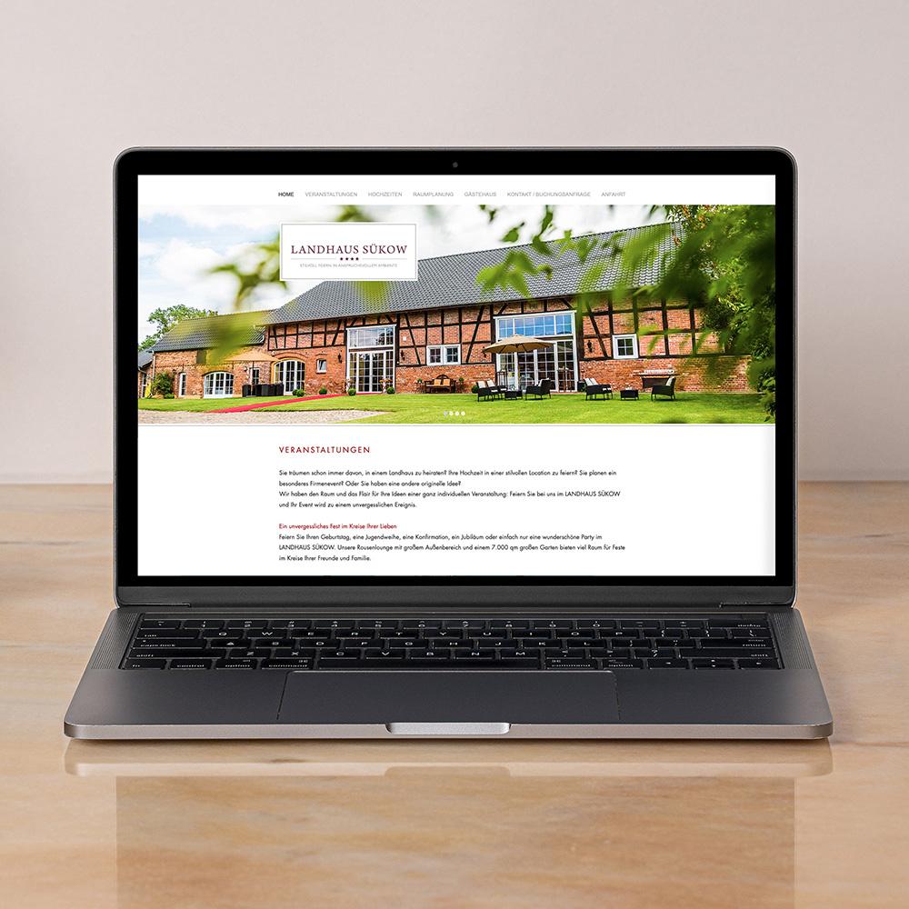 Landhaus Suekow   Webdesign
